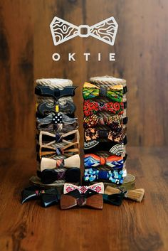 OKTIE - wooden accesorries: OKTIE - Wood bow tie
