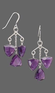 Jewelry Design - Earrings with Amethyst Gemstone Beads and Wirework - Fire Mountain Gems and Beads