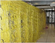 Cabling Disaster - NO AIR FLOW HERE - How About Color Coding for Cable Management?