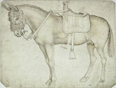 Pisanello, Saddled mule, mid 15C. Codex Vallardi 2380, Louvre, Paris.