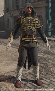 ArtStation - Assassin's Creed Unity, Avatar Napoleonic outfit Three., Mathieu Goulet