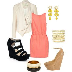 nice, summer work outfit... no heels for me though #Classic design.#Casually Cool!!!#