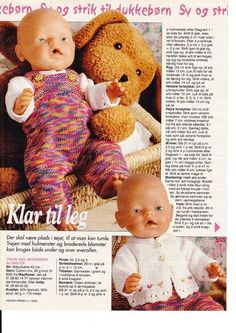 """Photo from album """"Одежда для Baby Born. Love Knitting Patterns, Knitted Doll Patterns, Doll Sewing Patterns, Knitted Dolls, Doll Clothes Patterns, Baby Patterns, Girl Dolls, Baby Dolls, Baby Born Clothes"""