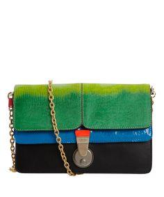 Tri-colour Chain Shoulder Bag 8417ee6258343