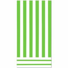Lime Green Striped Table Cover - 325057 | Partyi-fy! #stripes #greenstripes #tablecovers #partysupplies #tableware