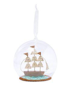 Sailboat Glass Globe | Christmas | Liberty.co.uk