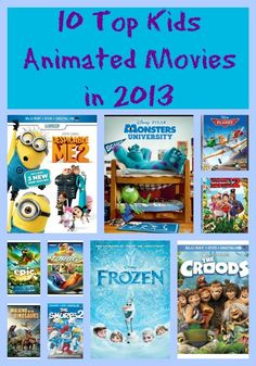 10 Top Kids Animated Movies in 2013