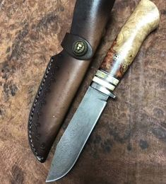 #knife #damascusknives #campingknife #outdoorknife #survivalknife #bushcraftknife #customknife #handmadeknife #damascussteel #huntingknife #fixedbladeknife #edcknife #everydaycarry #knifeaddict #knifeclub #knivesforsale #knifeaddiction #knifeart #collectorknife #collectableknives #bladeart #bladecommunity #menfashion #tacticalknives #mensstyle #giftformen #menaccessories #mensgoods #menswear #bbqknives #fishingknives #deerhunting #moosehunting #duckhunting #turkeyhunting #campinggears #hikingge Camping Knife, Bear Hunting, Fixed Blade Knife, Damascus Steel, Leather
