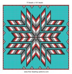 Free Native American Beadwork Patterns | Native American Beading Pattern | 2 Feathers Trading Post