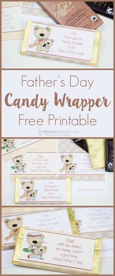 Father's Day Candy Wrapper Free Printable
