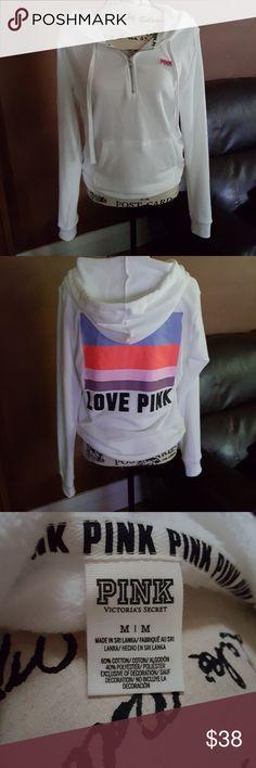 Pink Victoria's Secret Quarter Zip Hoodie NIP. Victoria's Secret Pink quarter zip hoodie. Size small, does run slightly on the larger side. PINK Victoria's Secret Tops Sweatshirts & Hoodies