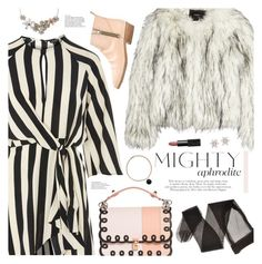 """""""mighty aphrodite"""" by valentino-lover ❤ liked on Polyvore featuring Topshop, Unreal Fur, Golden Goose, Fendi and Mudd"""