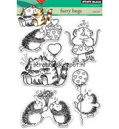 Scrapbookdepot - Penny Black Clear stamp set - Furry Hugs - PB30-402 - Penny Black - Afbeeldingen