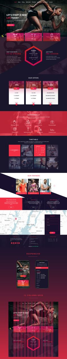 Gym.Landing Page. on Behance