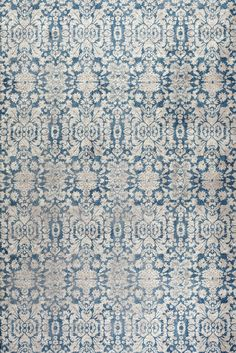 Sofie Rug in Blue & Beige