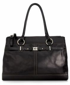 Giani Bernini Handbag, Large Glazed Leather Tote Women's - Handbags