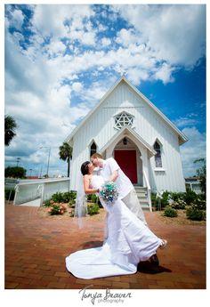 Tonya Beaver Photography; Historic church wedding; Jacksonville Beach elopement; beaches chapel; paper bouquet;