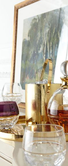 Shop Elysian Brandy Glasses and Decanter from Waterford Crystal at Horchow, where you'll find new lower shipping on hundreds of home furnishings and gifts. Diy Bar Cart, Bar Carts, Champagne Buckets, Waterford Crystal, Bar Accessories, Trendy Home, Tray Decor, Home Living, Bars For Home