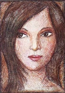 peggy aplSEEDS: Artist Trading Card: Portrait Step by Step