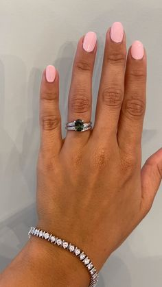 Laurel and Autumn were destined to be together- just like you and your partner! Both rings feature a unique sculptural nature inspired design with hand engraved platinum to look like the bark of a Sequoia tree. At the heart of the set you will see a magnificent oval sapphire with green/blue coloring. The sapphire is held in place by four hand engraved leaf prongs. See these two in more detail on our website! #kenanddanadesign #customdesign #nycjeweler #weddingringset #engagementring… Stacked Engagement Ring, Gemstone Engagement Rings, Engagement Gifts, Engagement Ring Settings, Lab Diamonds, Colored Diamonds, Ken And Dana Designs, Oval Diamond, Hand Engraving
