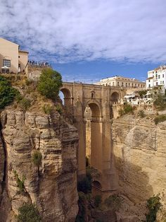 The Puente Nuevo, Rhonda, Malaga, Spain. Terrifying road/cliff to get there though!