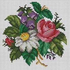 La imagen puede contener: flor y planta 123 Cross Stitch, Cross Stitch Fruit, Beaded Cross Stitch, Cross Stitch Borders, Cross Stitch Flowers, Cross Stitch Designs, Cross Stitching, Cross Stitch Embroidery, Hand Embroidery