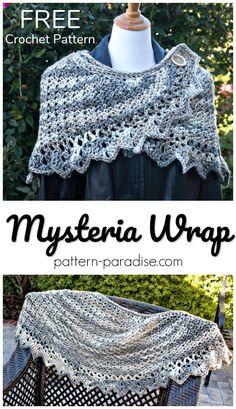 Free Crochet Pattern -  Mysteria Wrap -  #12WeeksChristmasCAL | Pattern Paradise