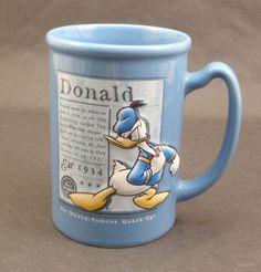Disney Donald Duck 3D Blue Little Wise Hen 1934 Coffee Mug Cup