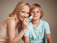 Actress Anne Heche's new project: sunscreen for kids called Tickle Time.