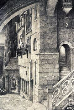 alan lee art | Alan Lee - Minas Tirith