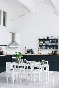 Scandinavian design is one of the most beautiful and elegant ways to decorate your home, and we absolutely love it. This is domino's ultimate guide to decorating your home with a Scandinavian design inspired interior. Küchen Design, Home Design, Design Ideas, Nordic Design, Design Elements, Black Kitchens, Home Kitchens, Kitchen Black, Home Interior