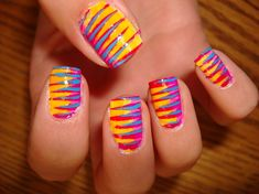 Easy Colorful Nail Art Ideas - Nail Art Designs Gallery - Zimbio