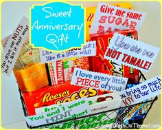 Anniversary Gifts, I think he would beat me for getting him candy but he can do that for me