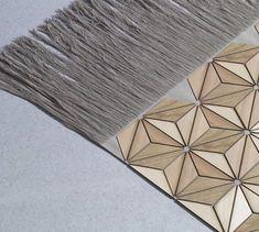 Boewer decorative wooden carpet. Designed by Elisa Stozyk.