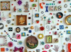 Wall full of ornaments and nic nacs