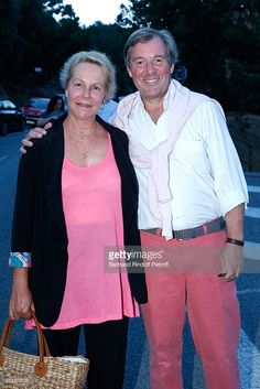 Actress Anne-Marie Philipe and her husband journalist Jerome Garcin attend the 30th Ramatuelle Festival on August 1, 2014 in Ramatuelle, France.