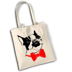 Hey, I found this really awesome Etsy listing at https://www.etsy.com/listing/122571096/boston-terrier-dog-cotton-shopping-bag