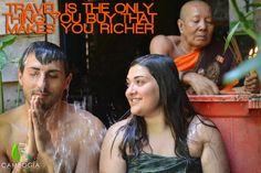 """""""Travel is the only thing you buy that makes you richer""""  Il battesimo dell'acqua con i monaci buddhisti. Una delle bellissime esperienze che puoi fare con Cambogia Viaggi. Scopri i nostri itinerari su www.cambogiaviaggi.com  #cambogiaviaggi #siemreap #waterblessing #pagoda #romantic #cambogia #cambodia"""