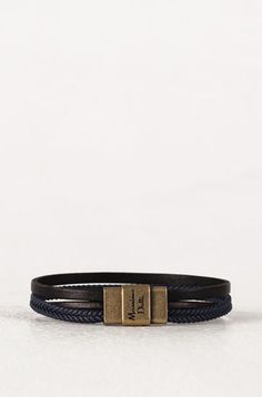 BLUE BRAIDED BRACELET - Leather Accessories - Garments - MEN - Malaysia