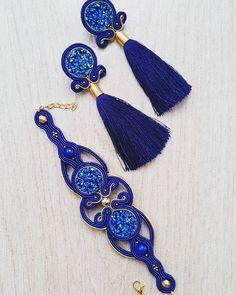 Soutache Jewelry, Fabric Jewelry, Shibori, Quilling, Jewelry Collection, Tassel Necklace, Handmade Jewelry, Ribbon, Drop Earrings