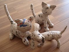 Diy Paper Crafts Newspaper Papier Mache 48 Ideas For 2019 Paper Mache Crafts For Kids, Paper Mache Diy, Making Paper Mache, Paper Mache Mask, Paper Mache Projects, Paper Mache Sculpture, Cat Crafts, Paper Toy, Cardboard Paper