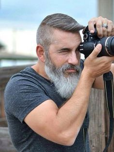 I never thought a white beard was sexy until I saw this man! WOW!