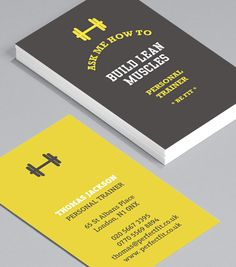 Black and white business cards template for personal trainers browse business card design templates colourmoves