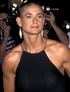 Demi Moore with her head shaved for her movie G.I. Jane. Such a good, well written movie that also starred Viggo Mortensen. Biddy Craft