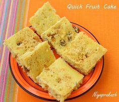 Niya's World: Quick Fruit Cake (Microwave method)