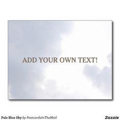 Pale Blue Sky Postcard