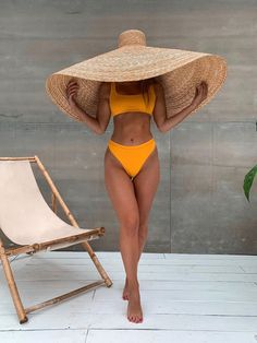 Solid Color High Waist Crop Top Bikini Swimsuit off automatically now summer bathing suits crop tops green women's swimming suits yellow ribbed fashion bikini summer swimming suits women Crop Top Bikini, Haut Bikini, The Bikini, Bikini Beach, Yellow Bikini, High Waist Bikini, Cute High Waisted Bikinis, Curvy Bikini, Curvy Swimwear
