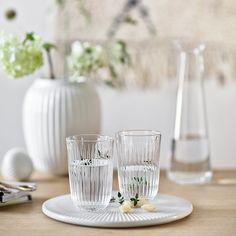 See the beautiful Hammershøi drinking glass at Kähler Design Hans Christian, Vases, Ceramic Workshop, Design Bestseller, Ceramic Tableware, Drinking Glass, Danish Design, Clear Glass, Dinnerware