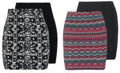 Even&odd 2Pack Minifalda Black Pink vestidos y faldas Pink Minifalda Even&Odd black 2Pack Noe.Moda