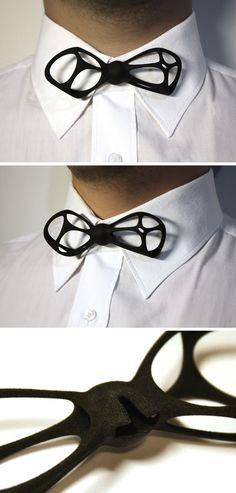 Vorobow bowtie! 3D printed men's accessories. http://www.shapeways.com/shops/voros